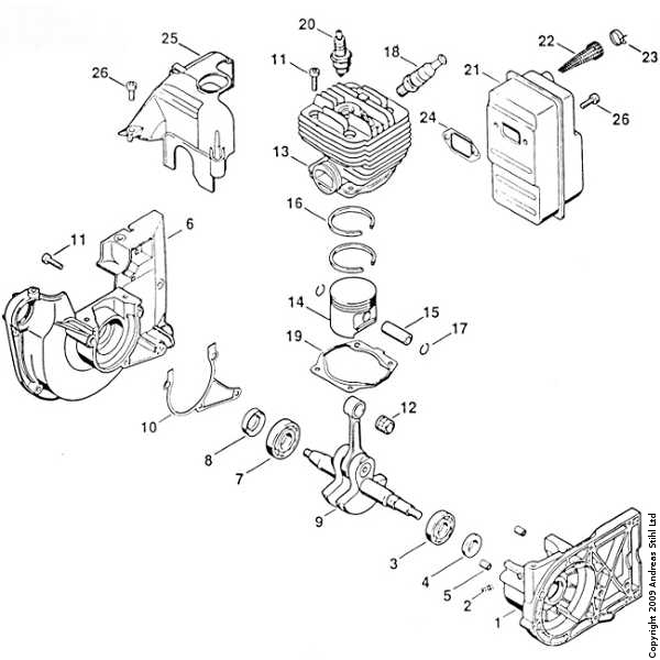 stihl 009 parts diagram manual