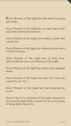 the manual of the warrior of light quotes